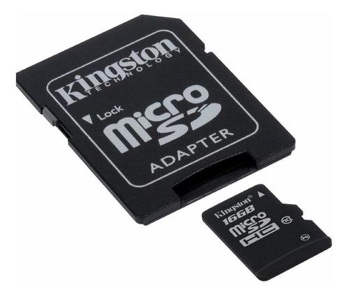 memoria micro sd hc 16 gb kingston clase 10 4