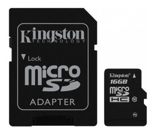 memoria micro sd hc 16gb kingston clase 10 celular