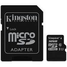 memoria micro sd hc 32gb kingston clase 10 ultra mobile celular camara 80mb/s canvas select mayoreo garantia original