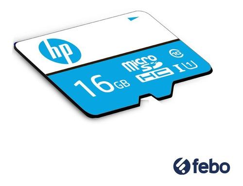 memoria micro sd hp 16gb 80mb/s celular cámara tablet febo