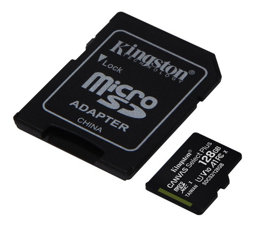 memoria micro sd kingston 128gb canvas select plus 100 mb/s