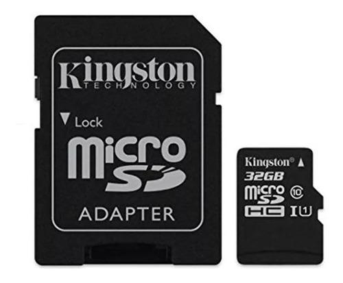 memoria micro sd kingston 32gb 100mb/s clase 10 canvas plus