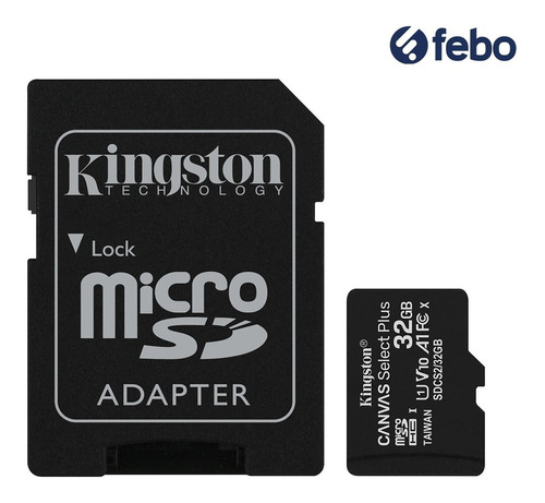 memoria micro sd kingston 32gb c10 80mb/s celular camara