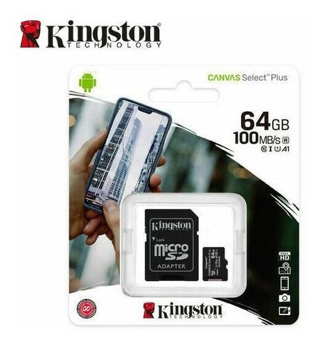 memoria micro sd kingston 64gb clase 10 original chacao tien