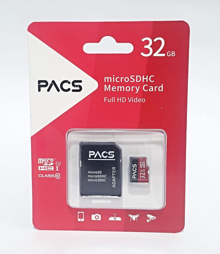 memoria micro sd pacs ultra 32gb clase 10 hc i original 4895