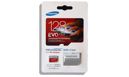 memoria micro sd samsung 128 gb 80 mbs/seg clase 10