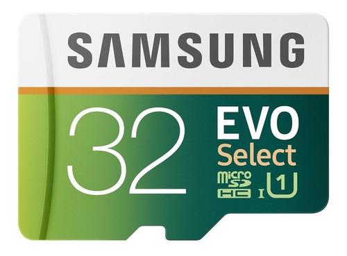 memoria micro sd samsung evo select 32gb c10 95mbs + adaptad