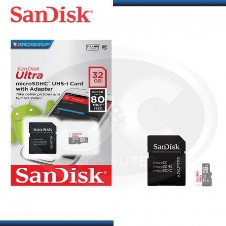 memoria micro sd sandisk 32gb clase 10 full hd video