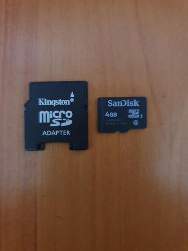 memoria micro sd sandisk con adaptador 4gb