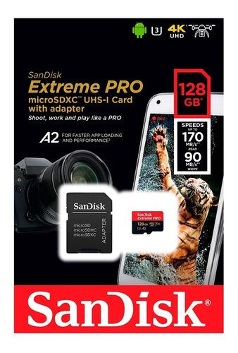 memoria micro sd sandisk extreme pro 128 gb 170mb/s cod.461