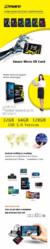 memoria micro sd smare 16 gb