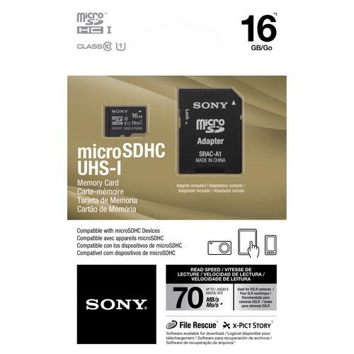 memoria micro sd sony de 16gb clase 10