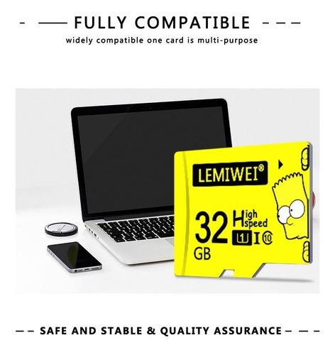 memoria micro sd tf lemiwei+adaptador sd alta calidad 64 gb.