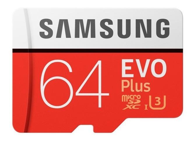 Memoria Micro Sd Xc Samsung Evo Plus 64gb Clase 10 U3 4k