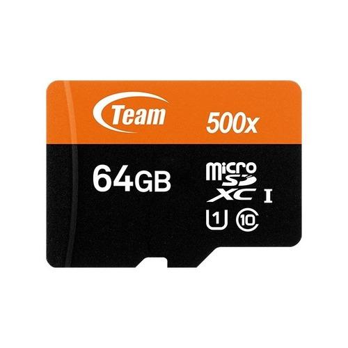 memoria micro sd xc uhs-i 64gb teamgroup clase10 c/adaptador