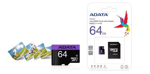 memoria micro sdhc adata 64gb uhs-i u1 ausdx64guicl10-ra1