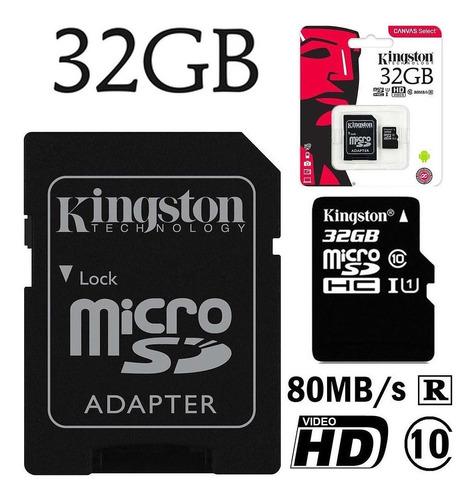 memoria micro sdhc kingston 32gb clase 10 celular tablet