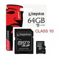 memoria micro sdxc 64gb kingston sdc10g2/64gb class 10 3,0