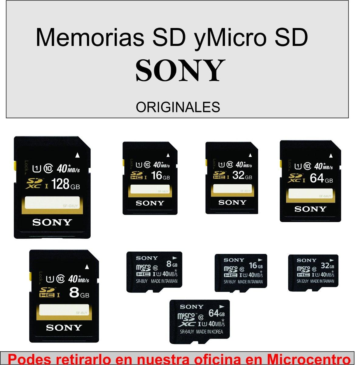 tarjeta de memoria 64gb sony