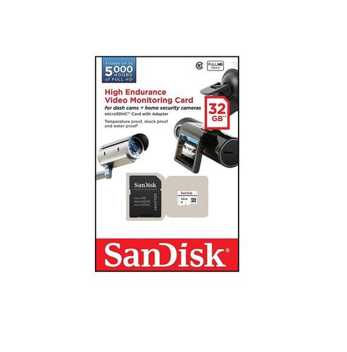 memoria microsd 32gb sandisk para grabacion por video