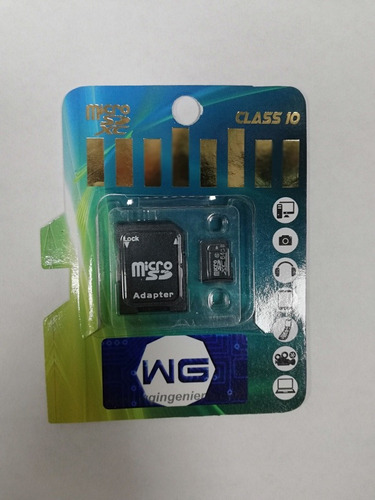 memoria microsd 64 gb, clase 10. 90mb/s