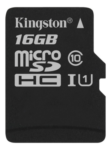 memoria microsd kingston 16gb clase 10 80mb/s micro sd uhs-i