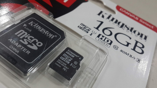 memoria microsd kingston 16gb clase 10 80mb/s micro sd uhs-i