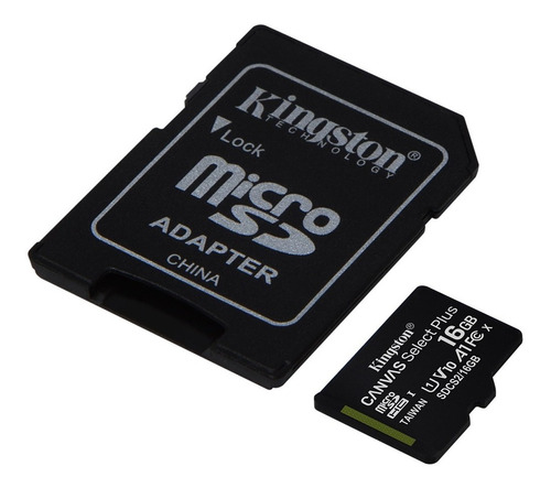 memoria microsd kingston 16gb clase 10 a1 100mb/s sd cuotas