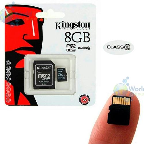 memoria microsd kingston 8gb clase 10 30mb/seg promocion