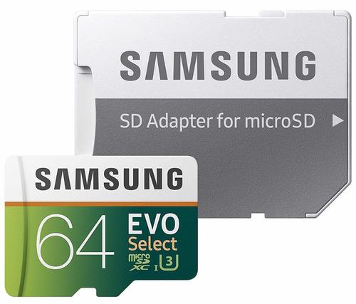 memoria microsd samsung evo 64gb 100mb/s clase 10 u3