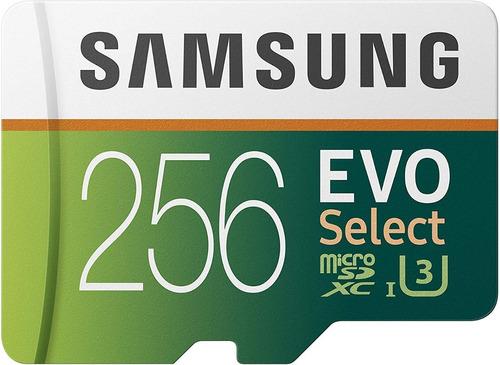 memoria microsd samsung evo select 256gb 100mbs c10 u3 4k