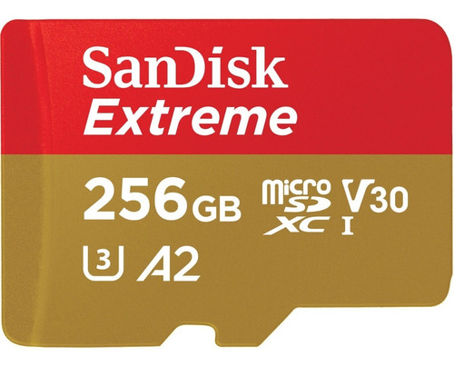 memoria microsd sandisk extreme 256gb 160mbs 4k u3 v30 a2