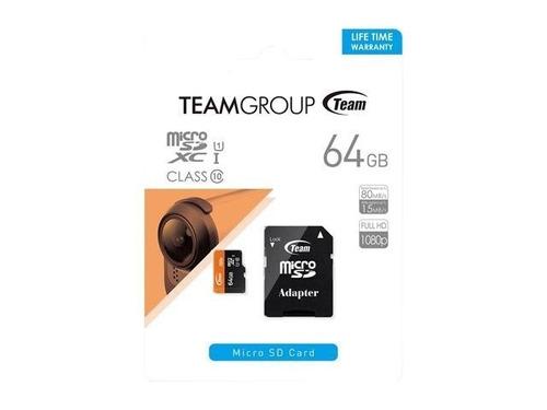 memoria microsd team 64gb uhs-i adaptador team group celular