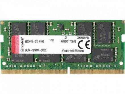 memória nb kingston ddr4 16gb/2400 kvr24s17d8/16