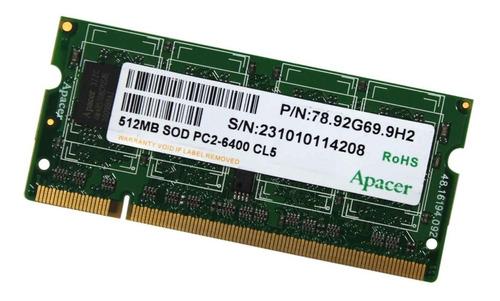 memoria noteboo11k 512mb ddr2 800mhz diversas marcas (11323)