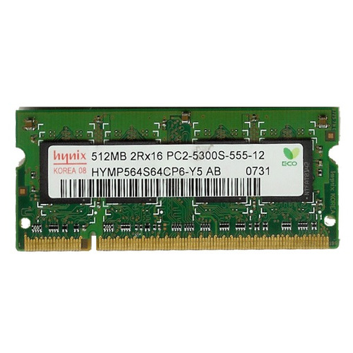 memoria notebook 1gb 2 x 512mb 667 pc5300 hymp564s64cp6-y5