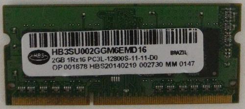 memória notebook 2gb ddr3