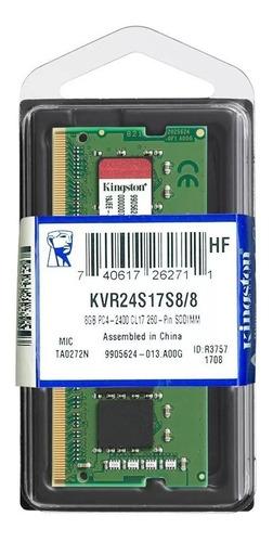 memória notebook 8gb ddr4 2400mhz kingston nova original