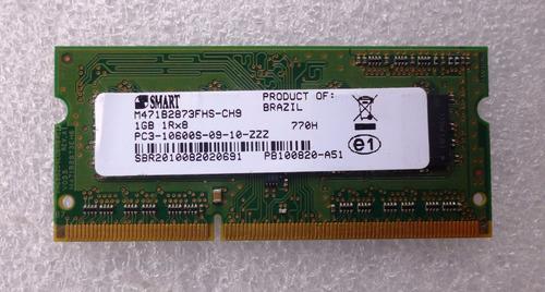 memória notebook macbook 1gb ddr3 pc3-10600s-0 smart 1333mhz
