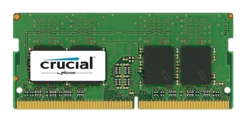 memoria notebook sodimm ddr4 8gb 2400 mhz crucial pce