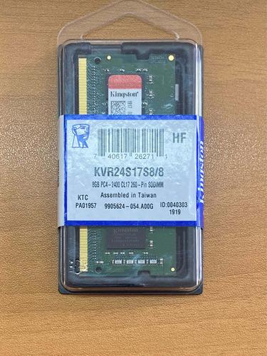 memoria notebook sodimm kingstong 8gb / ddr4 / 2400