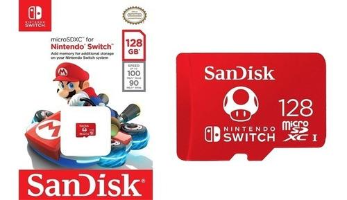 memoria original micro sd sandisk 128 gb nintendo switch