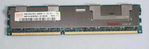 memoria p/ servidor 4gb 2rx4 pc3-8500r ddr3 1066 hp ibm dell