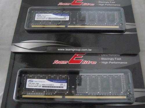 memoria para computadora ddr3 de 4g marca team