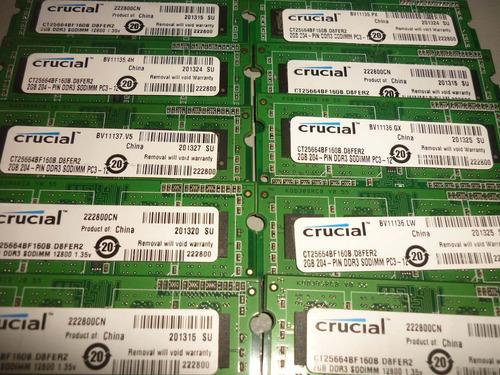memoria para laptop compatible ddr3 2gb. 1600mhz