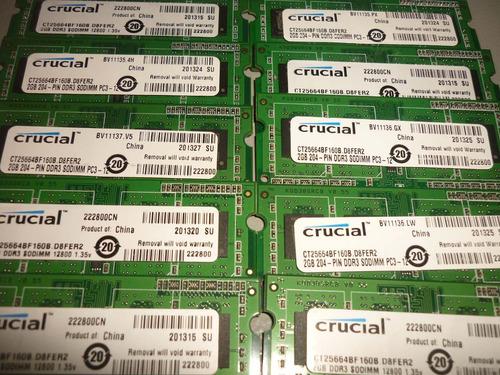 memoria para laptop ddr3 2gb.