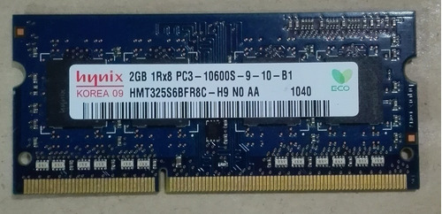memoria para laptop marca hynix  2gb -ddr3 -pc3-10600