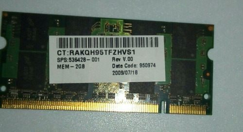 memoria para laptop pc2 2gb