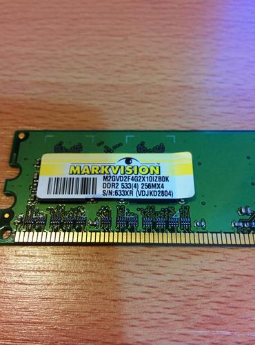 memoria para pc markvision 256mb ddr2 533