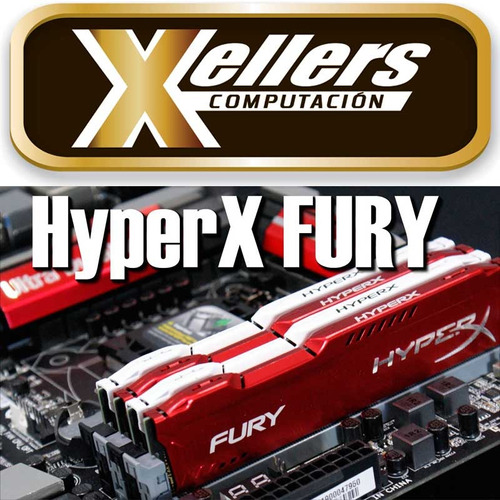 memoria pc 8gb 1600 mhz kingston hyperx fury gamer - xellers
